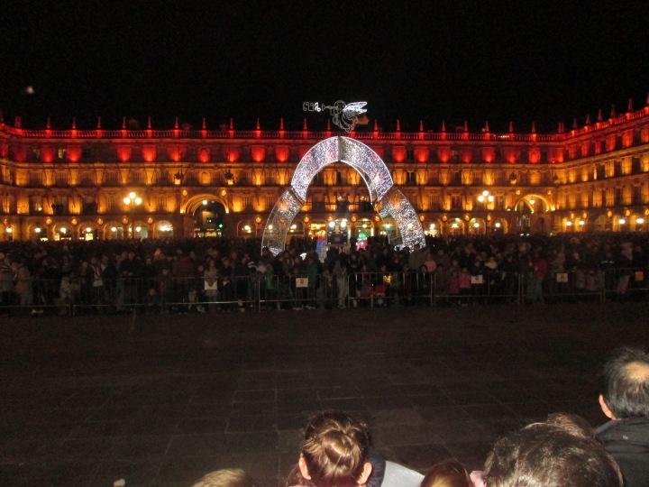 The Plaza Mayor at night
