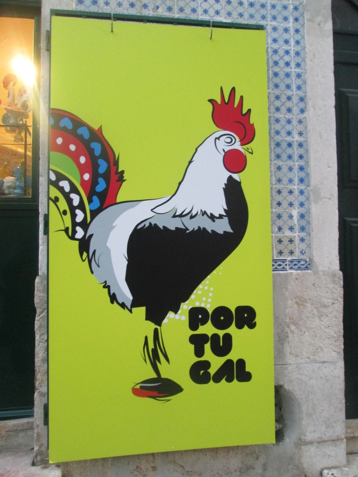The rooster is a symbol of good luck to the Portuguese